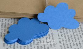 Label wolk in vele kleurtjes & afm. met of zonder touwtje & tekst