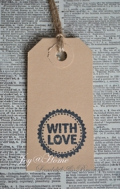 Label With love in 7 kleuren
