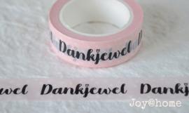 Masking tape Dankjewel