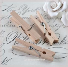 Knijper hout, naturel