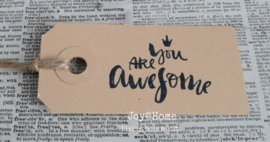 Label You Are Awesome in 4 kleuren
