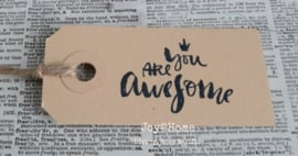 Label You Are Awesome in 7 kleuren