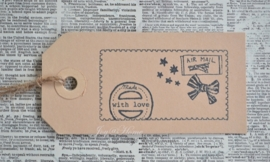 Label Air Mail - made with love in 7 kleuren