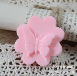 Zeepje bloem/vlinder, abrikoos