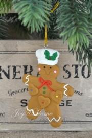 Kersthanger gingerbread man rood