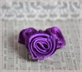 Roosje satijn, paars