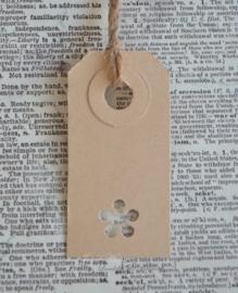 Label bloemetje