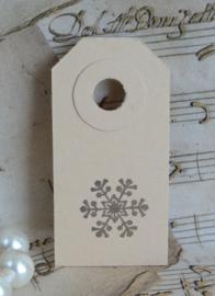 Label sneeuwvlok in 10 kleuren