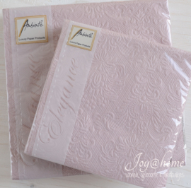 Servetten Elegance Pale Pink in 2 afm.