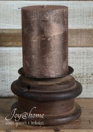 Kandelaar oude spoel industrieel met/zonder kaars in 2 kleuren