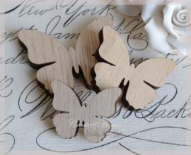 Vlinder hout, bruin
