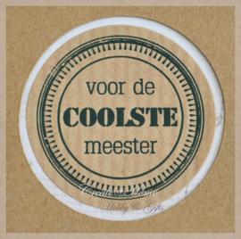Sticker kraft Voor de coolste meester
