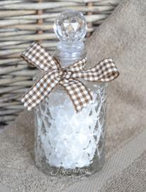 Flesje met dode badzeezout & lintje met gastendoekje in vele combinaties