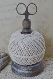 Houten touwhouder incl touw & schaartje