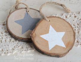 Houten schijfje ster