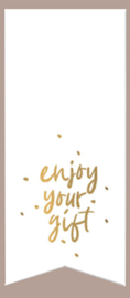Sticker - sluitzegel Enjoy your gift