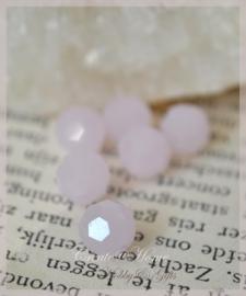 Kralen glas facet, opal roze