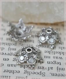 Kraalkapjes metaal, zilver