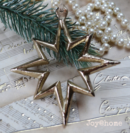 Kerstster metaal goud