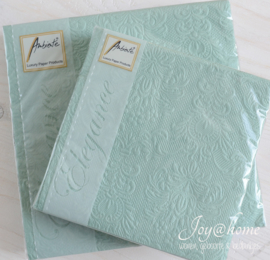 Servetten Elegance Pale Aqua in 2 afm.