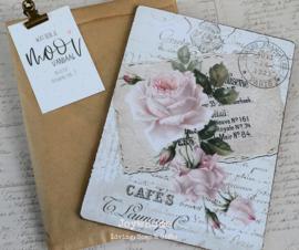 Bordje nostalgische foto in een zakje met klem & kaartje Wat ben je mooi...