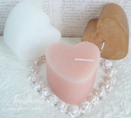 Kaarsen hartvorm in 3 kleuren