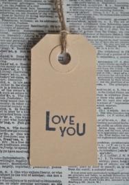 Label Love you in 6 kleuren