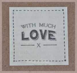 Vintage sticker With much love
