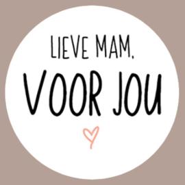 Sticker Lieve mam, voor jou