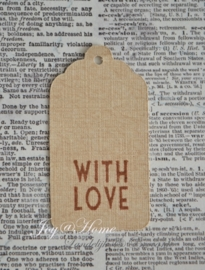 Label With love of Love you in vele kleurtjes