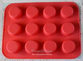 Rubberen mal voor 12 cupcakes