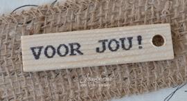 Houten label Voor jou