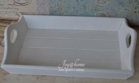 Wit houten dienblaadje