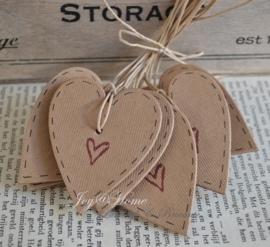 Kraft label hartje met hartje