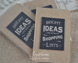 Kraft note book Bright ideas...