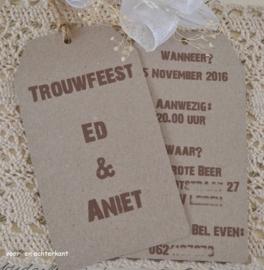 Labels groot uitnodiging bruiloft