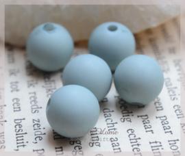 Kralen acryl, ijsblauw