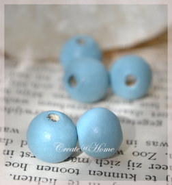 Kralen hout, zeeblauw
