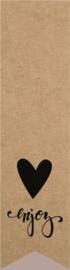 Sluitzegel - labelsticker kraft Enjoy
