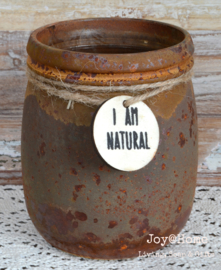Pot glas roest look