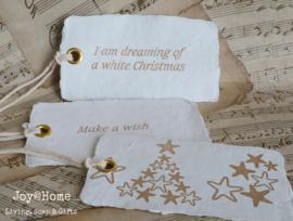 Kerst label papier mache