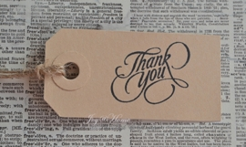 Label Thank you in 7 kleuren