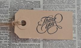 Label Thank you in 6 kleuren