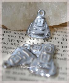 Bedeltje wit/zilverkleur, Boeddha's