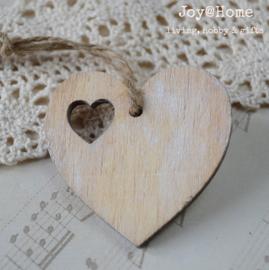 Hartje, blank hout