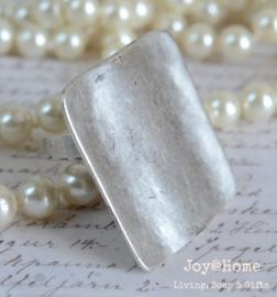 Ring verzilverd nikkelvrij one size