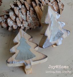 Knijpers hout met kerstboom
