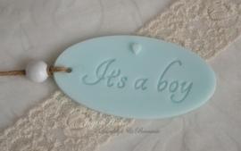 Geboortebedankje. Zeep label It`s a boy of girl in vele kleurtjes