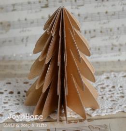 Kerstboom lampion goud