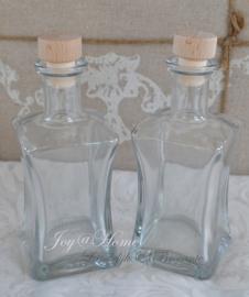 Flesje helder glas met dop